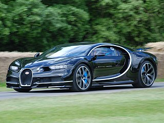 Sports car manufactured by Bugatti as a successor to the Bugatti Veyron