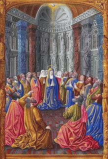 Pentecoste: miniatura da Les Très Riches Heures du duc de Berry