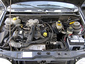 Ford Fiesta MK3 GFJ 1995 engine.jpg