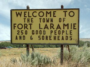 Fort Laramie, Wyoming Sign