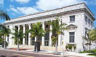 Fort Myers, Florida - Sidney and Berne Davis Art Museum in downtown Fort Myers
