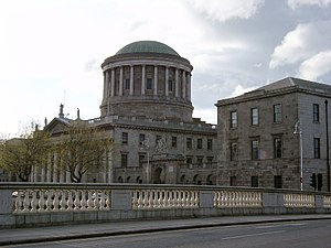 Four Courts - The Four Courts along the River Liffey quayside