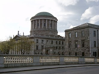 Law of the Republic of Ireland - The Supreme Court of Ireland sits in the Four Courts building in Dublin.