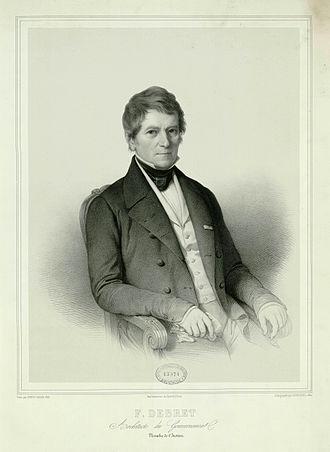 François Debret - Image: François Debret in 1846 by Noël after Alaux INHA