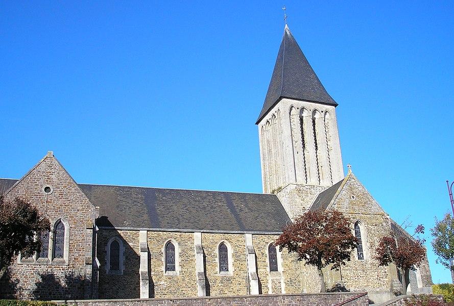 Condé-sur-Vire (Normandie, France). L'église.