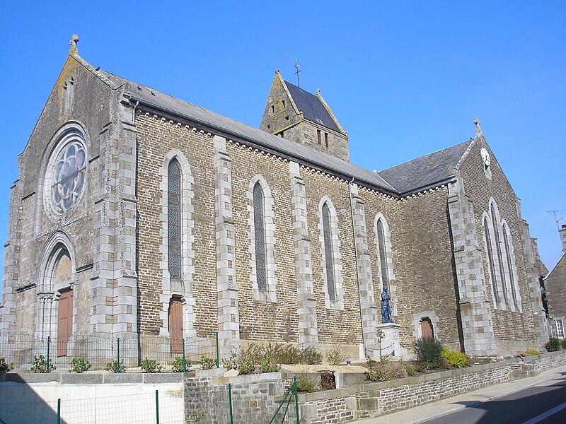 Saint-Laurent-de-Cuves (Normandie, France). L'église.