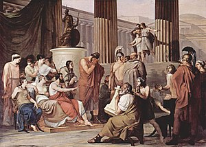 Scheria - Francesco Hayez: Odysseus at the court of Alcinous (oil on canvas, c. 1815; Galleria Nazionale di Capodimonte, Naples)