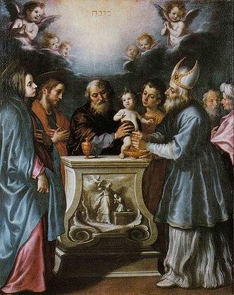 Francesco Curradi - Francesco Curradi, Circumcision of Jesus,  Collegiata di San Cassiano, San Casciano in Val di Pesa,  Italy