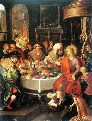 Parable of the Two Debtors - Feast in the House of Simon by Francis Francken the Younger.