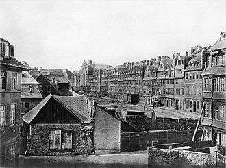 Ghetto - Demolition of the Jewish ghetto, Frankfurt, 1868