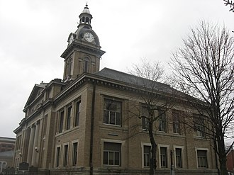 Franklin County, Indiana - Image: Franklin County Courthouse in Brookville