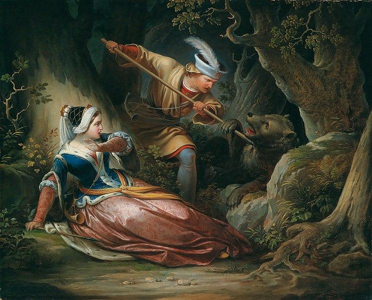 File:Franz Geyling Der tapfere Retter 1856.jpg