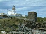 Fraserburgh Lighthouse (Kinnaird Castle) and the wine tower