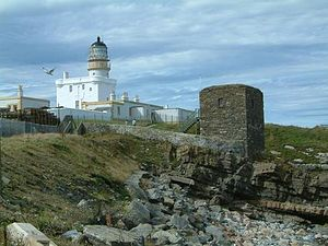 Kinnaird Head - Kinnaird Head, showing the lighthouse, formerly Kinnaird Castle, and the Winetower