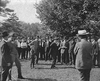 Charles Lang Freer - The 1916 groundbreaking ceremony for the Freer Gallery of Art