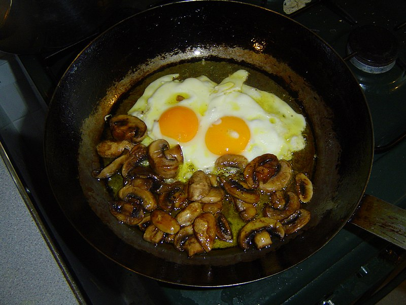 Fichier:Fried eggs mushrooms.jpg — Wikipédia