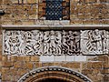 Frieze on the outside of Lincoln Cathedral, England.jpg