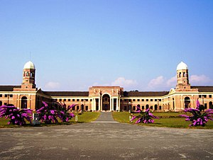 Forest Research Institute (India) - The Front view of the Main FRI building.