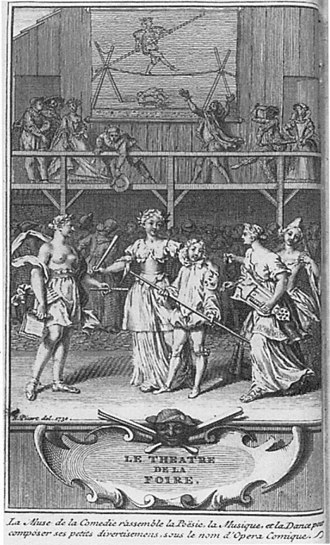 Opéra-Comique - The Muse of Comedy assembles Poetry, Music, and Dance to form Opéra Comique (1722)