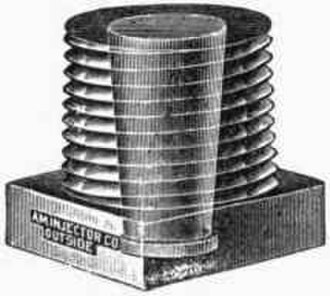 Fusible plug - A drawing of a fusible plug, showing the tapered core.