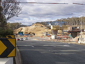 Gungahlin Drive Extension - Construction of the GDE at Belconnen Way and Caswell Dr