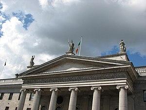 John Smyth (sculptor) - Smyth's studies of Hibernia, Mercury and Fidelity on the pediment of Dublin's GPO