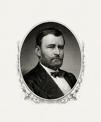 BEP engraved portrait of Grant as President.