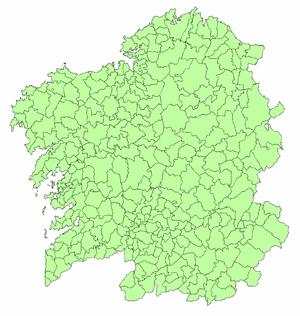 Mapa De Galicia Pueblos.Anexo Municipios De Galicia Wikipedia La Enciclopedia Libre