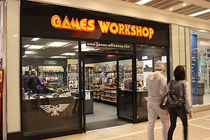 English: Games Workshop, Castle Court shopping...