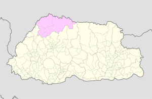 Gasa District Wikipedia - Map of bhutan with districts