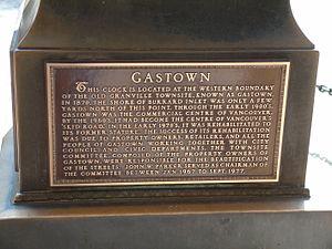 Gastown - Gastown Steam Clock Plaque