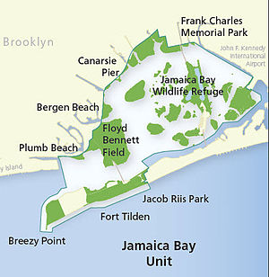 Jamaica Bay Wildlife Refuge - Image: Gateway National Recreation Area Jamaica Bay Unit map