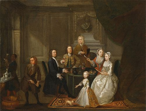 Gawen Hamilton - Group portrait, probably of the Raikes family - Google Art Project.jpg