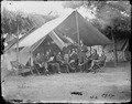 Gen. Ulysses S. Grant and staff of eight, recognized - Maj. O.E. Babcock, Col. Wm. McK.Dunn, Capt. Henry W. Janes... - NARA - 524444.tif