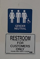 File Gender Neutral Bathroom Sign Gas Station In Playa Del Rey Ca December Wikipedia