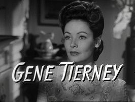 Tierney in de trailer van The Ghost and Mrs. Muir (1947)
