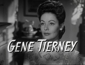 Gene Tierney - From the trailer for The Ghost and Mrs. Muir (1947)