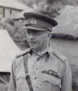 11th Army Group - 1943/44. General George Giffard, commander of 11th Army Group.