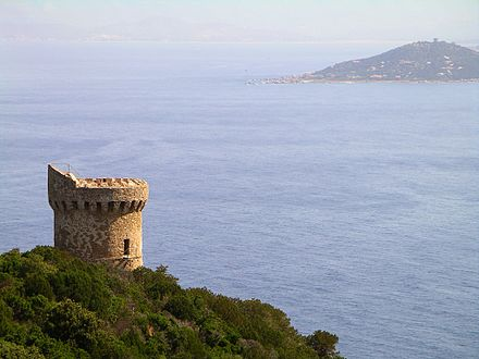 The Barbary pirates frequently attacked Corsica, resulting in many Genoese towers being erected. Genoise tower in corsica.jpg