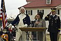 George Washington (Dean Malissa), Caressa Cameron and Maj. Gen. Karl R. Horst, 2011.jpg