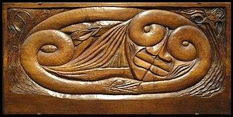 Georges Lacombe (painter) - Georges Lacombe, 1894, 1896, L'Existence, carved wood (Bas-relief en bois de noyer), 68.5 x 141.5 x 6 cm, Musée d'Orsay, Paris