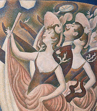 Le Chahut - Le Chahut, detail of the dancers, upper right