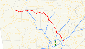 Georgia State Route 140 - Image: Georgia state route 140 map