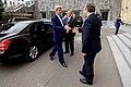 Georgian Prime Minister Kvirikashvili Greets Secretary Kerry at the Chancellery in Tbilisi (27511132354).jpg