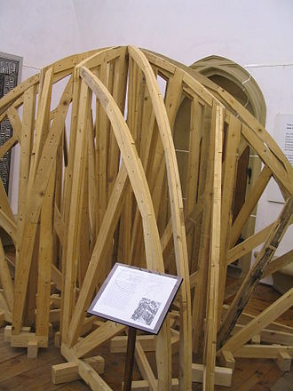 Centring - Model of centring for a ribbed dome structure at Albrechtsburg.