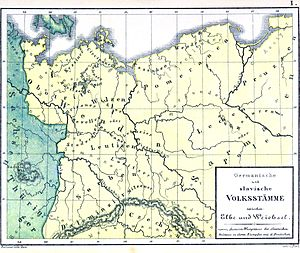 Sorbian March - Limes sorabicus on German map.