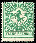 Germany Stuttgart 1886 local stamp 5pf - 4 unused.jpg