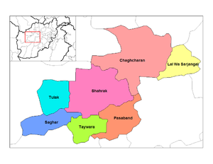 Ghor districts