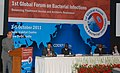 """Ghulam Nabi Azad delivering the inaugural address at the """"1st Global Forum on Bacterial Infections Balancing Treatment, Access and Antibiotic Resistance"""", in New Delhi on October 03, 2011 (1).jpg"""