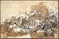 Giovan battista gaulli, studio di un dettaglio per l'assunzione di sant'agnese, 1670-90 ca.jpg